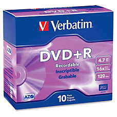 Verbatim AZO DVDR 47GB 16X with