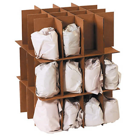 Office depot brand partition kit for dish moving box 18 x for Used boxes for moving house