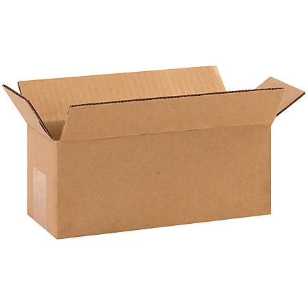 Office Depot Brand Long Boxes 10 L X 4 H X 4 W Kraft Pack