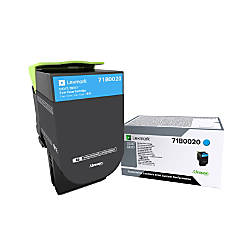 Lexmark 71B0020 Cyan Toner Cartridge