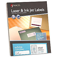 MACO White LaserInk Jet Address Label