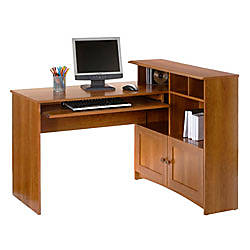 sauder new traditional corner desk 38 316 h x 38 1132 w x 47 1532 d american cherry by office