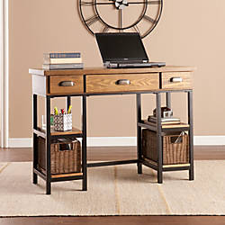 Southern Enterprises Desk BlackBrownGray