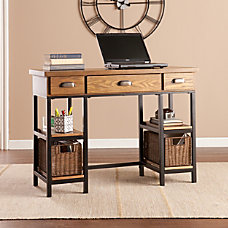 Southern Enterprises Desk BlackBrownGray Standard Delivery