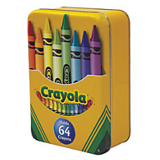 Crayola Large Hinged Tin 6 14