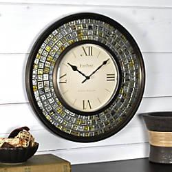 FirsTime Mirrored Mosaic Wall Clock 13