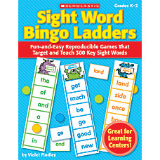 Scholastic Bingo Ladders Sight Words