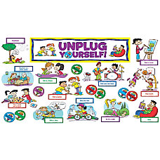 Scholastic Unplug Yourself Mini Bulletin Board