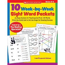 Scholastic 10 Week By Week Sight