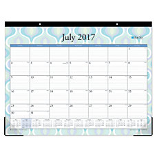 Blue Sky Academic Desk Pad Calendar