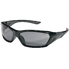 Crews ForceFlex Safety Glasses Black Frame
