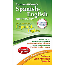 Merriam Webster Spanish English Dictionary Dictionary