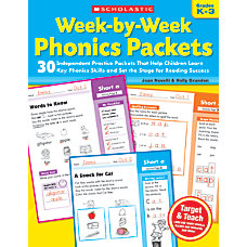 Scholastic Week By Week Phonics Packets