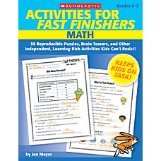 Scholastic Activities For Fast Finishers Math