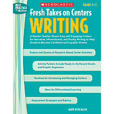 Scholastic Fresh Takes On Centers Writing