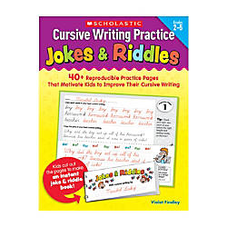 Scholastic Cursive Writing Practice Jokes Riddles