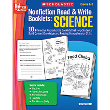 Scholastic Nonfiction Read Write Booklets Science