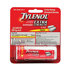 Tylenol Extra Strength Blister Packs Pack