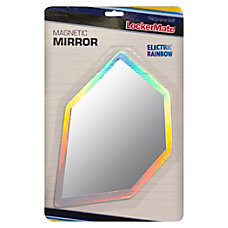 LockerMate Magnetic Locker Mirror Multicolor Plastic