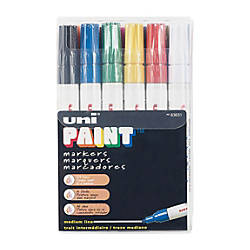 Uni Paint Markers Medium Point Assorted