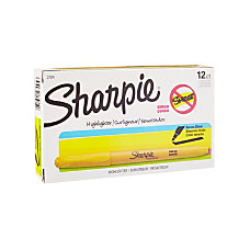 Sharpie Accent Pocket Highlighters Yellow Box