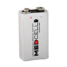 Medcell Advantage 9 Volt Alkaline Batteries