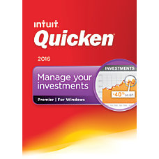 Quicken Premier 2016 Traditional Disc