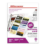 Office Depot Brand Business Card Binder
