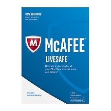 McAfee LiveSafe 2017 For PCMacMobile eCard