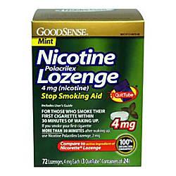 GoodSense Nicotine Polacrilex Lozenge 4mg Nicotine