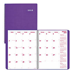 Brownline Duraflex 14 Month Monthly Planner