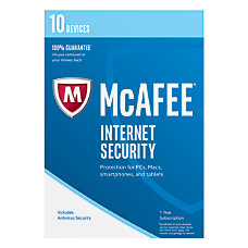 McAfee Internet Security 2017 For PCMac