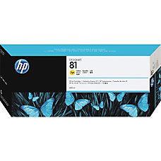 HP 81 Yellow Dye Ink Cartridge