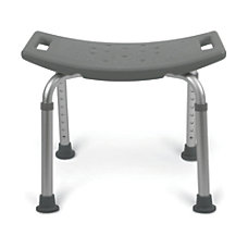 Medline Backless Aluminum Bath Bench Gray