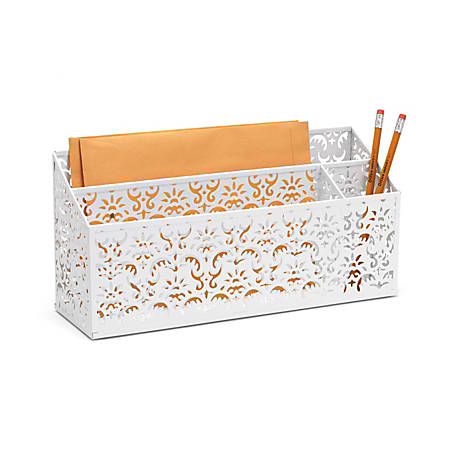 Realspace brocade desk organizer white by office depot - Desk organizer white ...