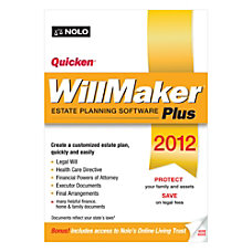 Quicken WillMaker Plus 2012 Traditional Disc