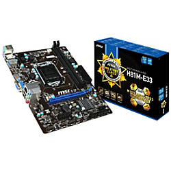 MSI H81M E33 Desktop Motherboard Intel