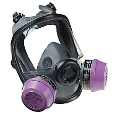 LOW MAINTENANCE MEDLARGE FULL FACE RESPIRATOR