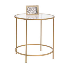 Sauder International Lux Round Side Table
