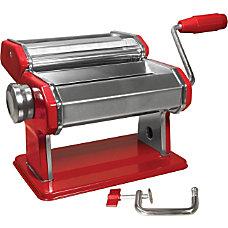 6 Manual Pasta Machine Red