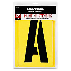 Chartpak Painting Stencil Set 12 Gothic