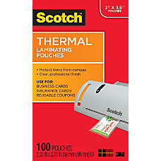 3M Thermal Laminating Business Card Pouches