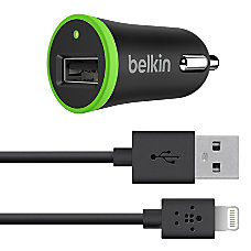 Belkin Car Charger With Lightning To