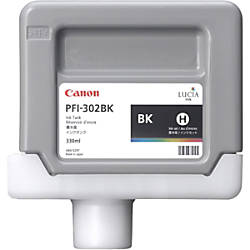 Canon PFI 302BK Pigment Black Ink