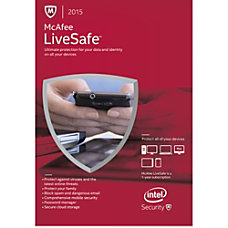 McAfee LiveSafe 2015 1 user Download