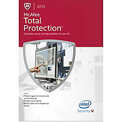 Mcafee total protection 2015 1 user download version by office depot
