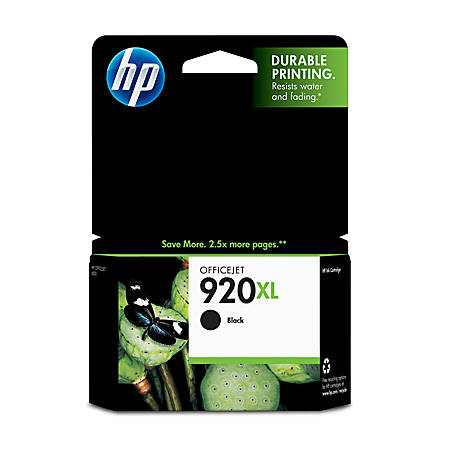 hp 920xl black ink cartridge cd975an by office depot officemax. Black Bedroom Furniture Sets. Home Design Ideas
