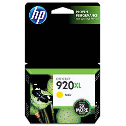 HP 920XL, Yellow Ink Cartridge (CD974AN)