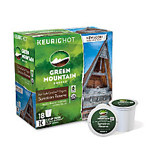 Green Mountain Coffee Pods Fair Trade