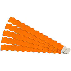 SICURIX Printable Wristband Orange Tyvek